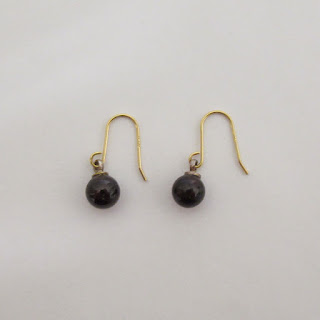 Red Stone & 18K Gold Earrings