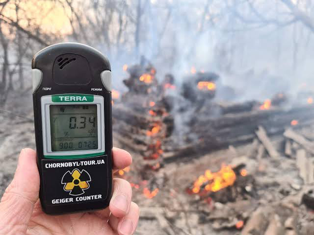 Wildfires rage at the Chernobyl nuclear power plant sparking radiation fears.