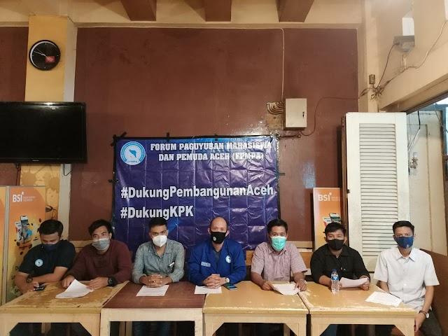 Forum Paguyuban Mahasiswa Pemuda Aceh (FPMPA Dukung KPK Berantas Korupsi DiSerambi Mekkah
