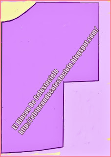 Patrón blusón manga murciélago rectángular tipo quimono
