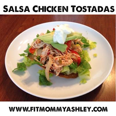 chicken, tostadas, crockpot, clean, healthy, nutrition, mexican, 21 day fix, taco tuesday, cinco de mayo, recipes, salsa