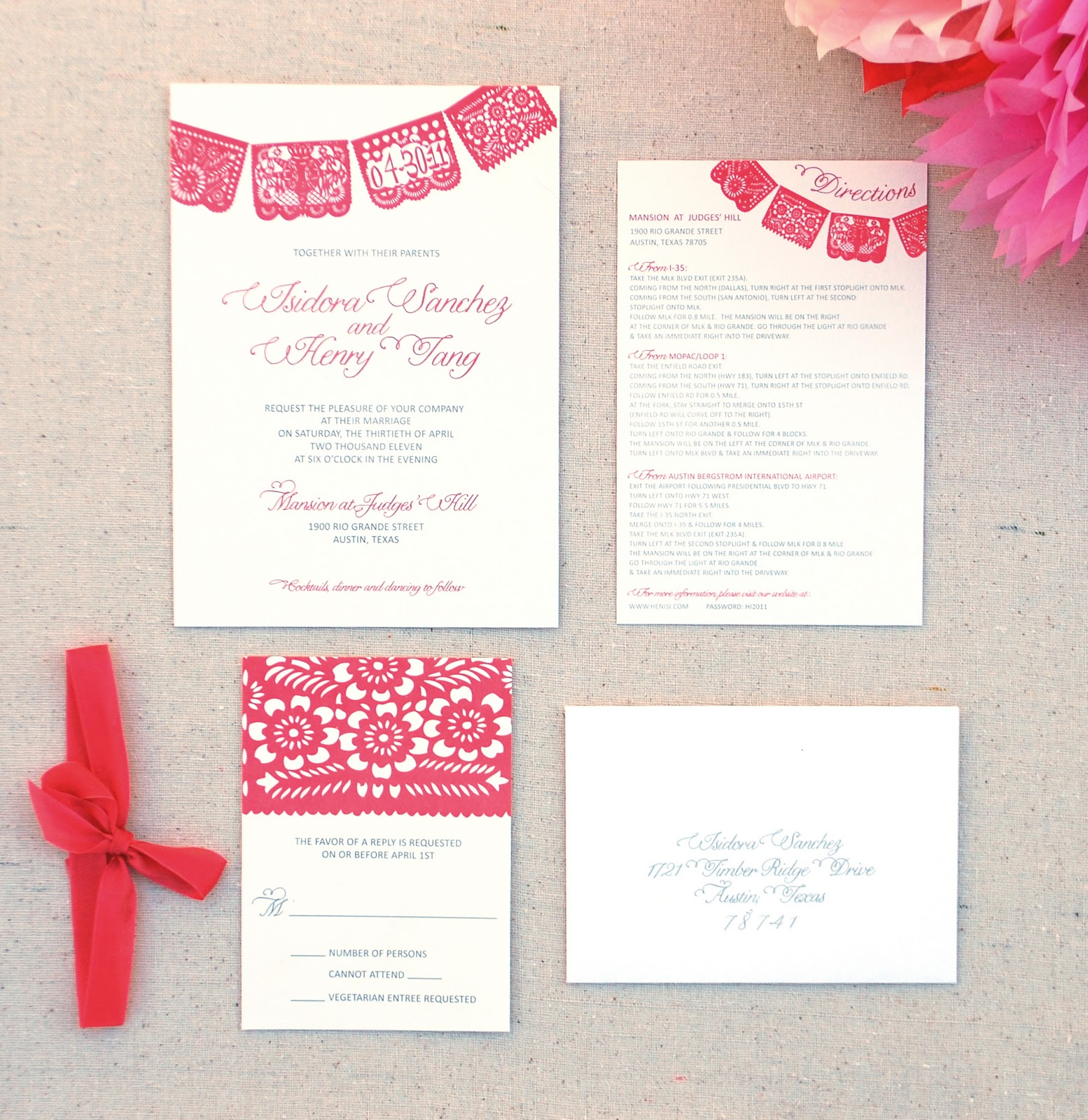 You\'re Invited: Papel Picado Custom Invitation Design