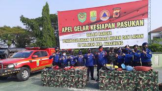Karawang Gelar Apel Pasukan Penanggulangan Kebakaran Hutan dan Lahan