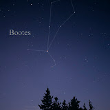 Arcturus, the bright star at the base of Bootes