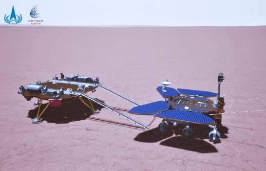 Sonda china rueda por la superficie de Marte