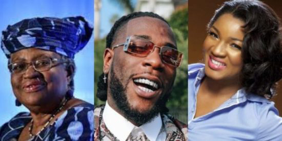 Okonjo-Iweala, Omotola, Burna Boy, among Forbes Africa's 100th innovation, icons' list