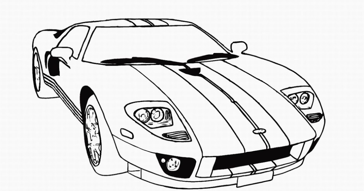 car coloring pages for preschoolers - top 10 cool cars coloring pages for boys drawing