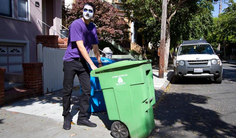 Men's DoD Pants Phil pushing trash can