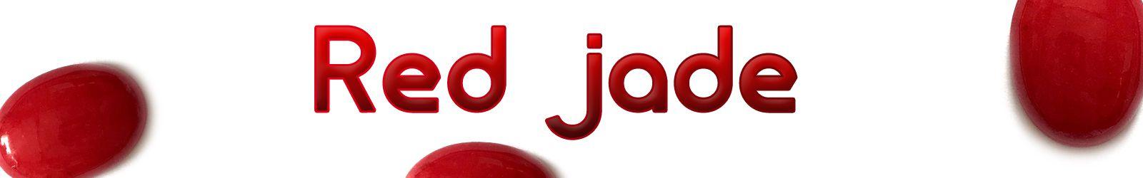 Red jade stone