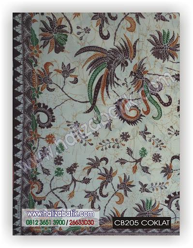 Belanja Batik Online, Baju Batik Modern, Jual Baju Batik, CB205 COKLAT