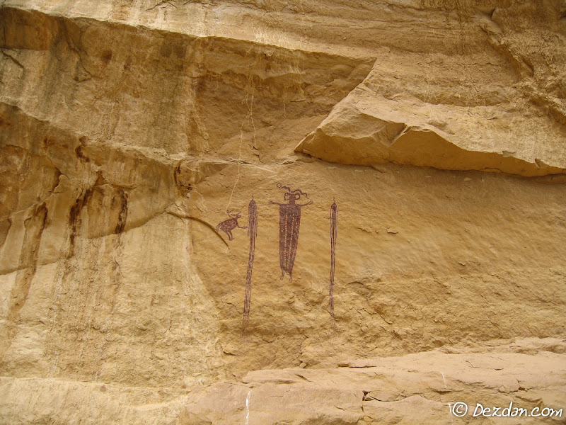 The first panel with its Barrier Canyon culture style of pictographs.