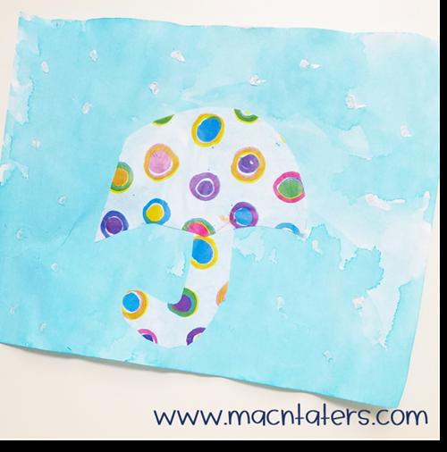 Watercolor Umbrella Craft