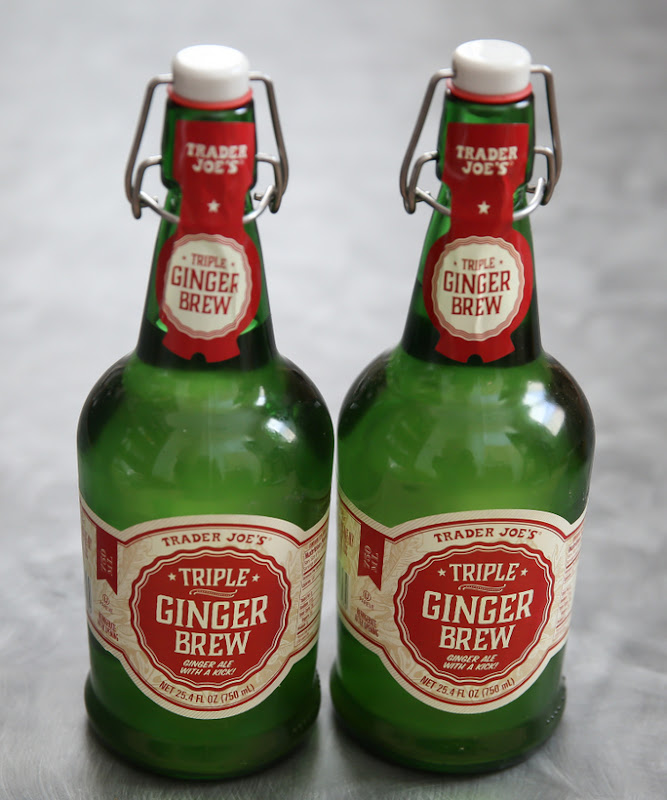 photo of two bottles of Trader Joe's Triple Ginger Brew