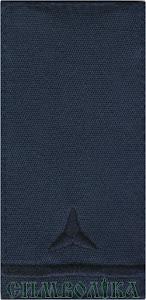 Погон ДСНС Майстер-сержант (старший сержант, старшина) /темно-сині/липучка - 9х5 см / муфта - 10х5 см
