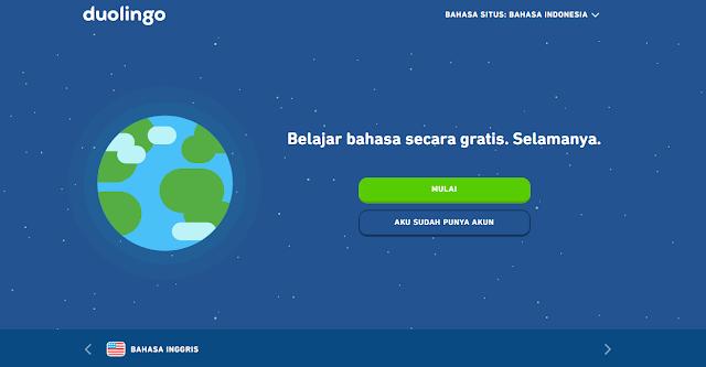 Website Belajar Bahasa Inggris Online Dan Gratis Duolingo