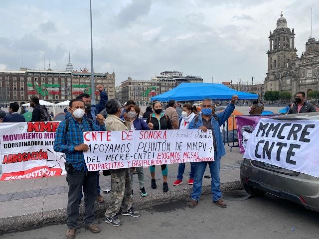 MAESTROS DE LA CNTE DEMANDAN BASIFICACIÓN A AMLO, PUES FUE UNA PROMESA DESDE HACE DOS AÑOS