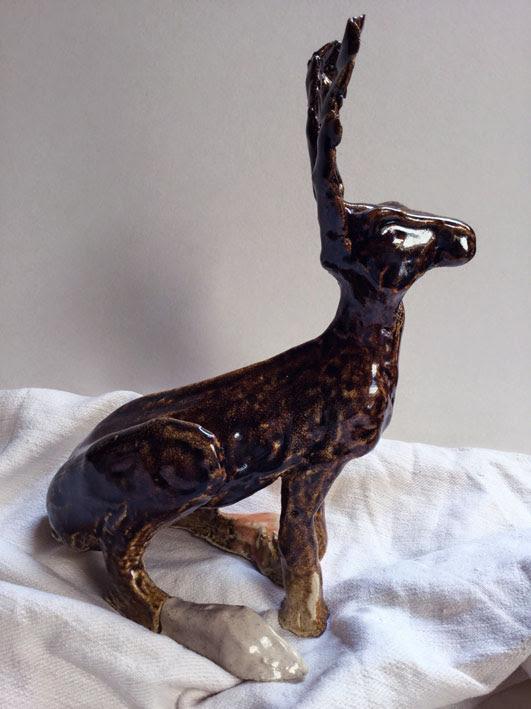 Lepre marzolina temnoku chiaro gress 1 35x 20x15 cm Disponibile