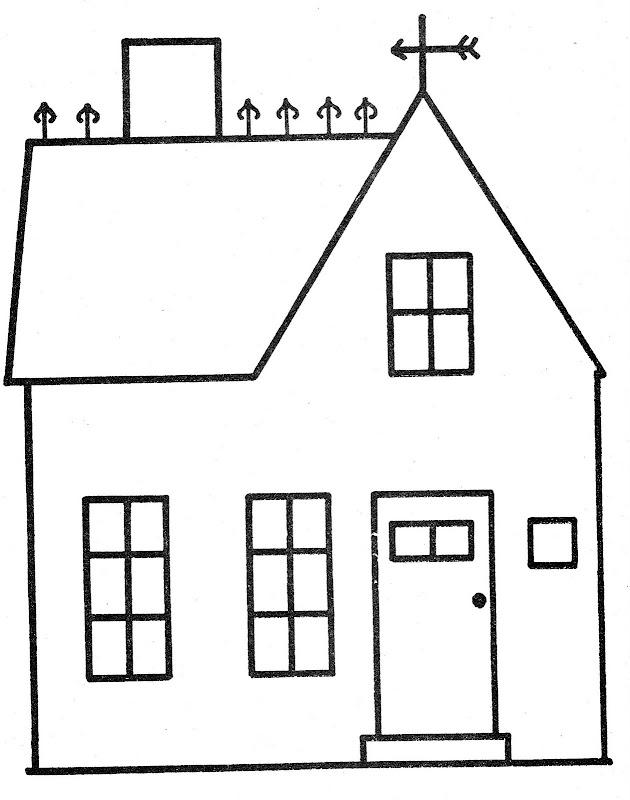 Casa con atico para colorear