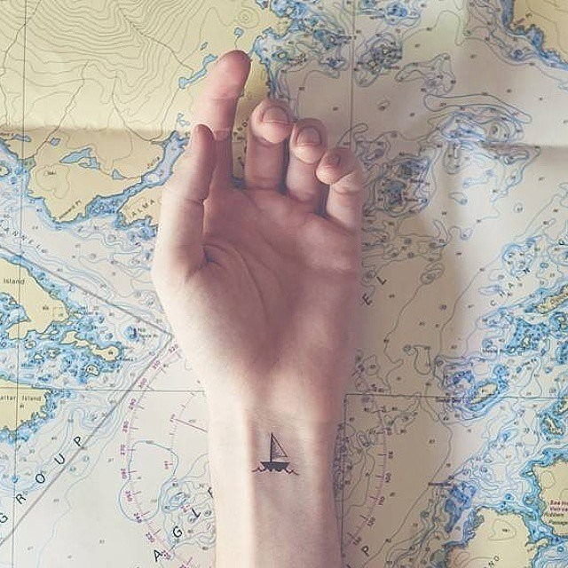 Lets Sail the Water Tattoo Art