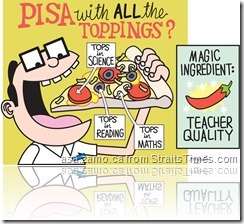 PISA toppings: tops in maths, tops in reading, tops in science