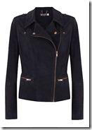 Mint Velvet navy suede biker jacket