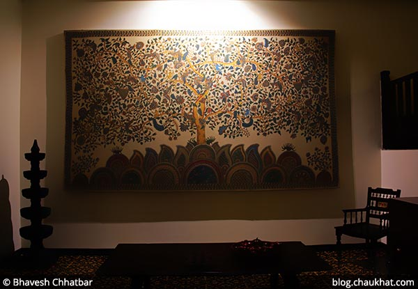 Tree of Life - A Kalamkari form of painting that is made using vegetable colours, at Savya Rasa [Koregaon Park, Pune]