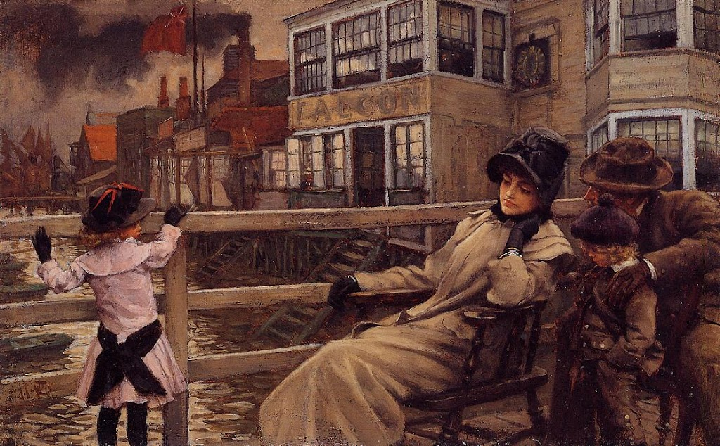 James Tissot - Waiting for the Ferry - circa 1878