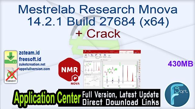 Mestrelab Research Mnova 14.2.1 Build 27684 (x64) + Crack_ ZcTeam.id