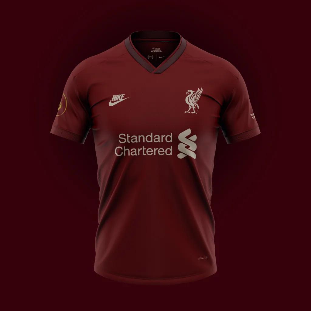 desain liverpool home terbaru untuk menandingi jersey liverpool dari Nike