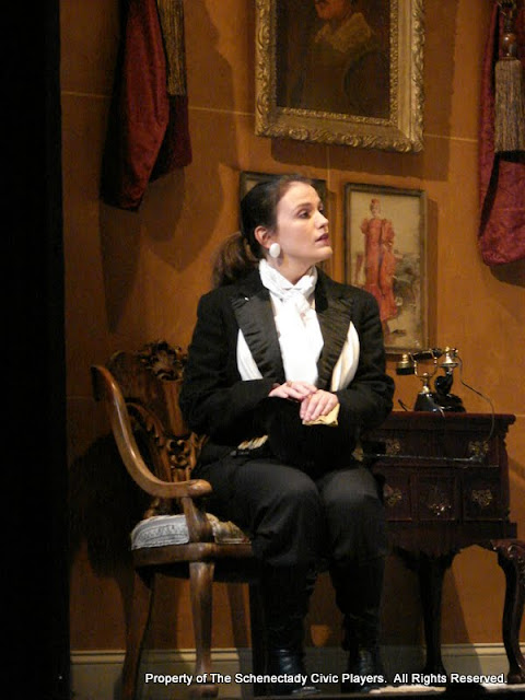 Stephanie G. Insogna in THE ROYAL FAMILY (R) - December 2011.  Property of The Schenectady Civic Players Theater Archive.