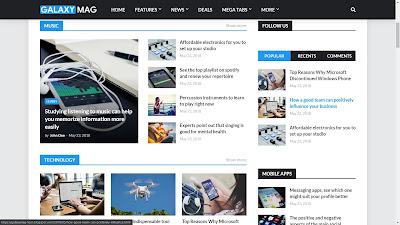 Galaxymag premium blogger template