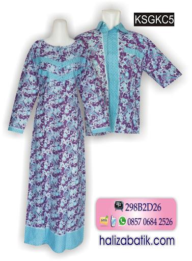 Jual Baju Batik Murah, Busana Muslimah, Desain Batik, KSGKC5