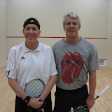 Jim Cronin, 4th place, and Rip Hastings, 3rd place, of the Men's 60+ flight.