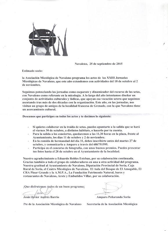 Carta a los socios - Octubre 2014
