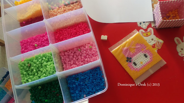 Hama bead crafting