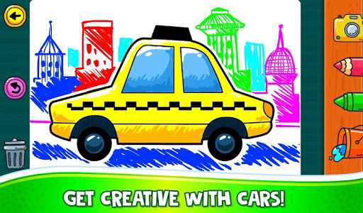 ud83dude97 Learn Coloring & Drawing Car Games for Kids  ud83cudfa8 4.0 screenshots 1