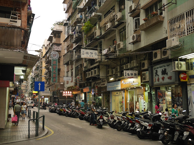 street in Macau's Three Lamps District