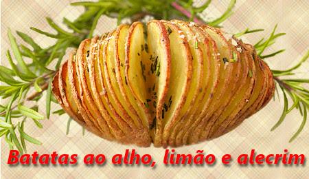Batatas ao alho, limão e alecrim