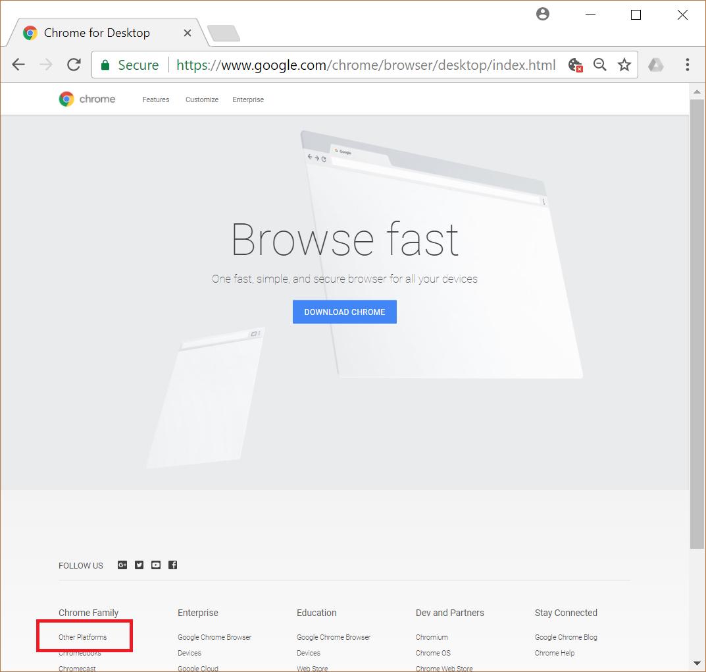 google chrome download for windows xp offline installer