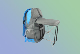 Foldable backpack with lawn chair