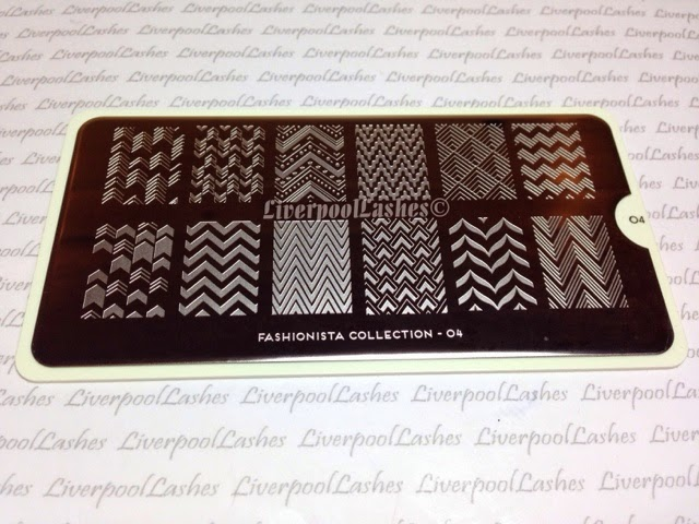 liverpoollashes liverpool lashes you tube blog moyou london fashionista collection 04 plate zigzags chevrons