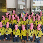 Rabbit Mask Making Activity (Sr.KG.) 27-10-2015