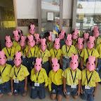 Rabbit Mask Making Activity (Sr.KG.) 27-10-2015