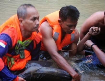 Berita foto dan video SINAR NGAWI terkini: Saat-saat evakuasi kedua korban tenggelam di embung Kuniran Sine Ngawi Jawa timur