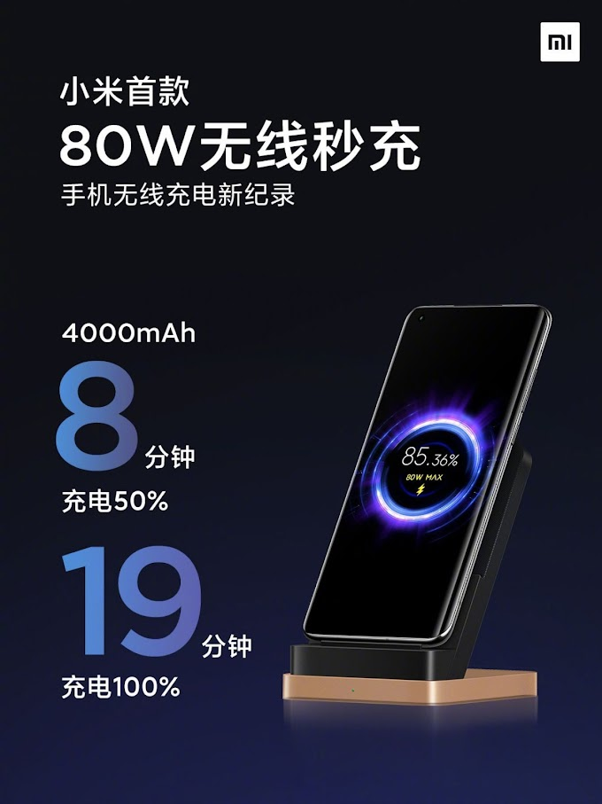 Xiaomi Creates 80W Wireless Charger, Tops Up a Battery in 19 Minutes