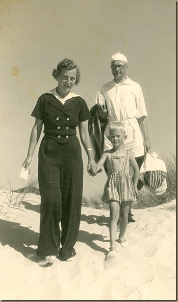 Gertrud, Leonhard and Christian Adelt circa 1940