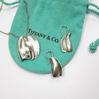 Tiffany & Co. X Frank Gehry Necklace and Earring Set