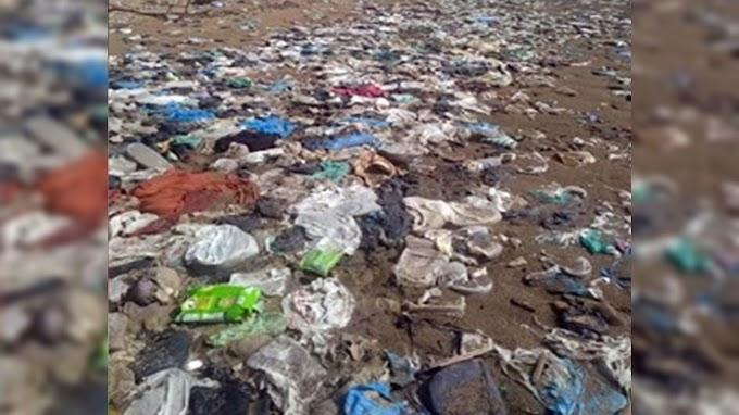 344 Kilogram Sampah Di Pantai Goronggon