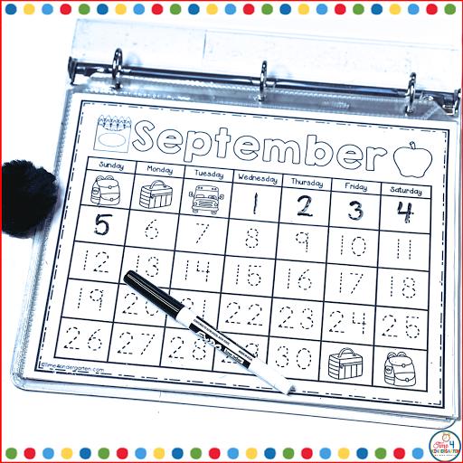 calendar notebooks- make calendar time interactive