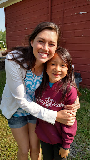 This was soooo special. Jina (on the left) lives about an hour away from the camp. She was Gabriella's first Camp Counsellor 4 years ago. So when Jina found out Gabriella was at camp, she drove up to see her.